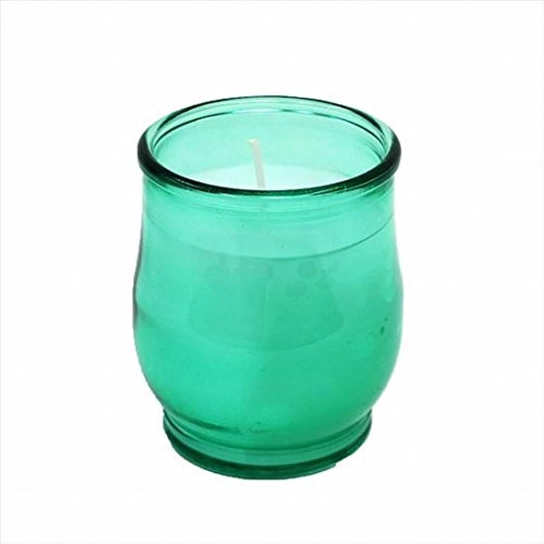慎重に任命ホールドカメヤマキャンドル(kameyama candle) ポシェ(非常用コップローソク) 「 グリーン(ライトカラー) 」