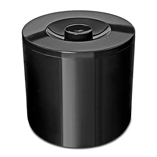 Portaghiaccio rotondo isolato nero 4 l