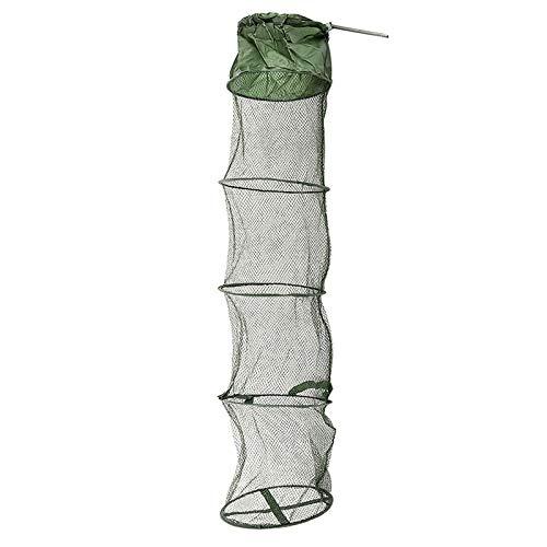 mingtian Plegable Fishing Care Creel Tackle Fishing Net Nylon Plegable Cangrejo Trampa De Peces Cast Net Cast Red De Pesca Plegable 5 Capas