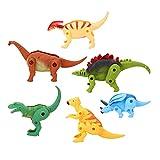 Juguete plástico de dinosaurio para niños, huevos de dinosaurio de deformación, juguete de huevos de dinosaurio de escritorio de 6 piezas, para niños para regalo(SE Deformed Dinosaur Egg)