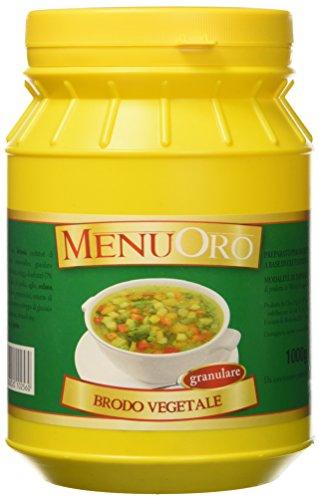 Menuoro - Brodo Vegetale Granulare - Barattolo 1Kg - [confezione da 2]
