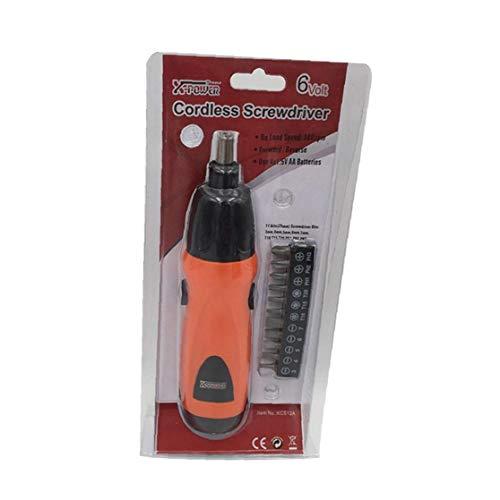 AAGOOD-1 S Multifuktion Mini Electric wiederum Schraube Set AS6NG Alkaline Cordless wiederum Schraube Orange 4 AA-Batterien erforderlich (Nicht enthalten)