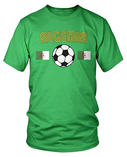 Amdesco Argelia - Camiseta de fútbol para hombre, diseño de Argelia -  Verde -  Large