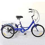 Triciclo Adulto Bicicletas de 3 Ruedas Adult Tricycle Mayors, Trike 20 Pulgadas Crucero de Tres Ruedas Bicicleta con...
