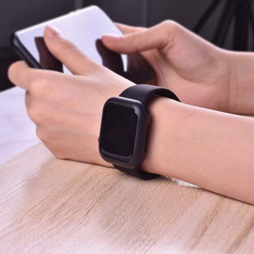 Capa case silicone para apple watch series 1 2 3 4 tamanho 44mm preto