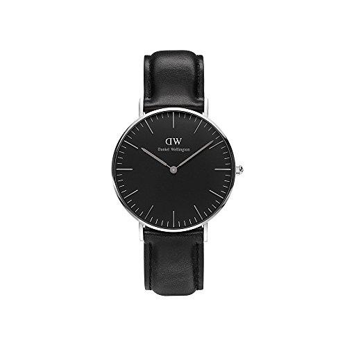 Daniel Wellington Unisex-Armbanduhr CLASSIC BLACK Analog Quarz Leder DW00100145