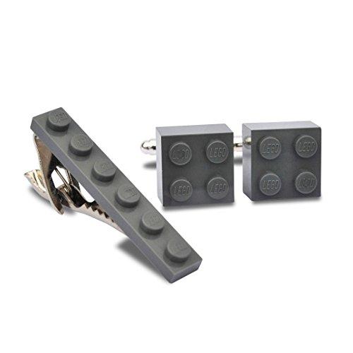 Juego gemelos clip corbata hechos mano Lego® Ladrillos