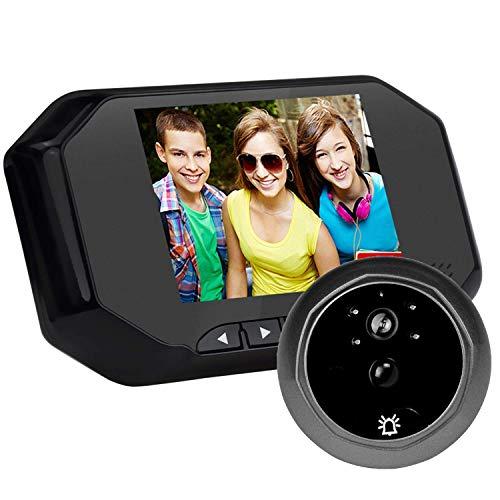 TQ 3,5-Zoll-Wireless-Video-Türklingel 720P Intelligente Türklingel-Kamera mit Anzeige, Sicherheitssystem, Nachtsicht, Bewegungserkennung, Keine Verdrahtung erforderlich