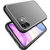 XeloTech Premium Hülle kompatibel mit iPhone 11 (6.1 Zoll) - Edel-Hybrid - Semitransparent - Schock-Absorbierend - Schwarz und Anthrazit