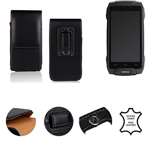 K-S-Trade® Holster Gürtel Tasche Für Cyrus CS 30 Handy Hülle Leder Schwarz, 1x