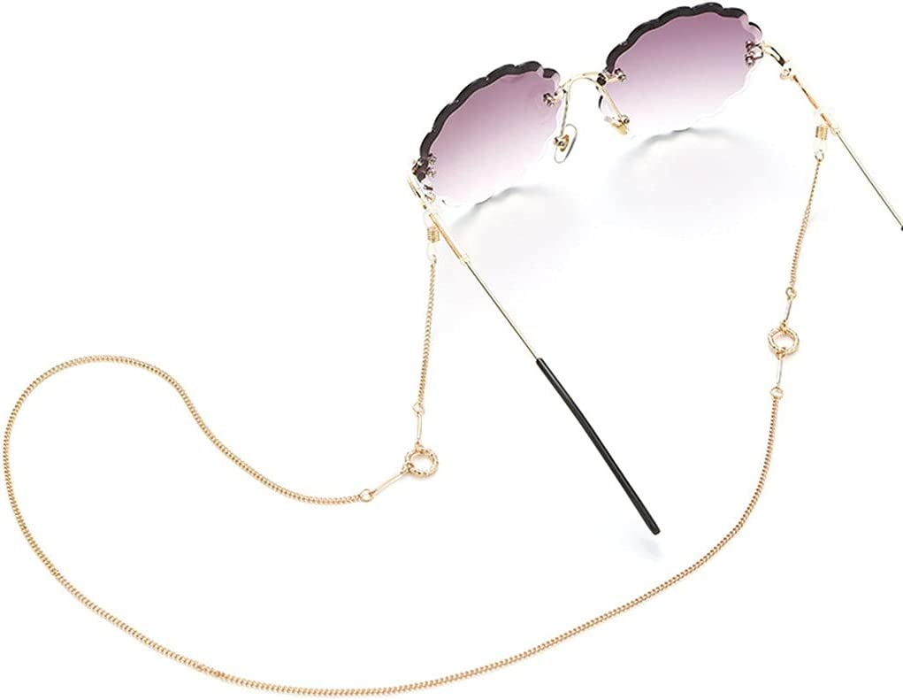 ZYKBB Glasses Chain Straps Simulation Pearl Women Simple Bead Chain For Glasses Sunglasses Cords Accessories (Color : A, Size : Length-70CM)