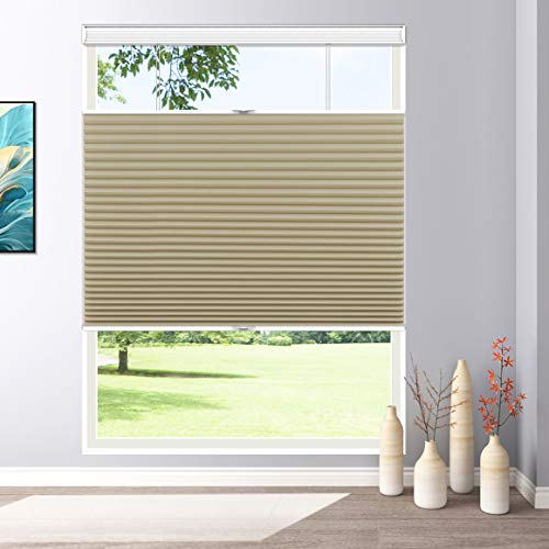 Keego Blackout Window Shades Cordless Cellular Blinds Top Down Bottom Up, 33