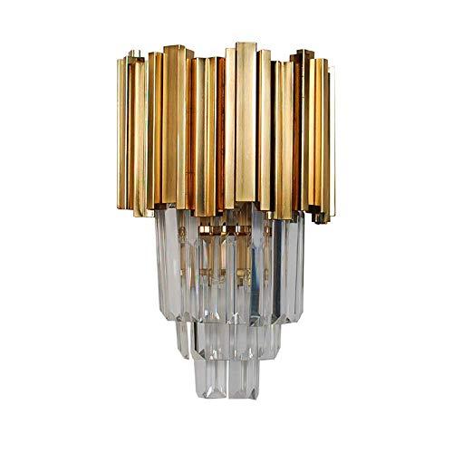 LLLBBB Wandleuchte Kristall Kupfer Wohnzimmer Schlafzimmer Innen Haushalt Glas Kupferlampen