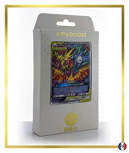 Sulfura, Electhor et Articodin-GX SM210 Full Art Alternative- Ultraboost X Soleil & Lune 11.5 Destinées Occultes - Coffret de 10 Cartes Pokémon Françaises