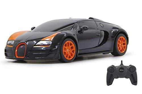 Jamara 404551 40 MHz Echelle 1/24 Noir Bugatti Veyron Grand Sport Vitesse Voiture de Luxe