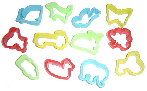 Play Dough (Play Doh) / Biscuit Cutters Pack of 12 - Assorted...