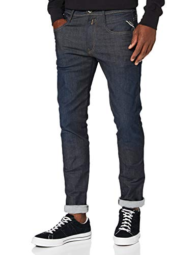 Replay Hyperflex Herren Stretch Jeanshose Anbass, Blau (Blue Denim 7), W30 / L32
