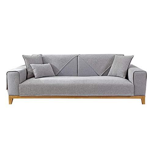 YUTJK Alfombrilla Elegante de Color Claro para sofá,Composable Antideslizante Resistente Anti-Suciedad Sofá Cubierta,Funda Protector De Los Muebles,Puede ser Alfombra,Gris Claro