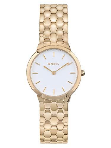 Breil - Reloj de mujer Blunt con esfera monocromática, movimiento solo hora, 2 horas, cuarzo y pulsera de acero multicolor TW1901