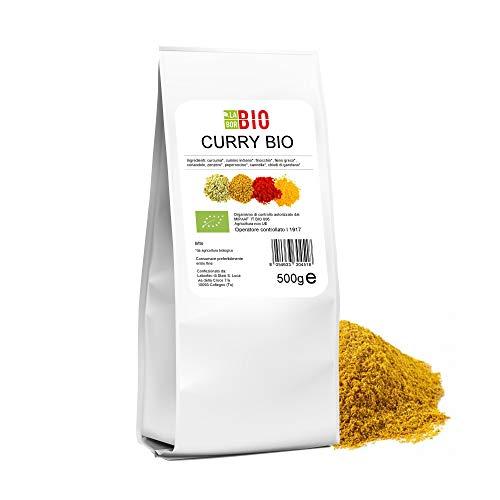 Curry Bio senza sale 500 g - Condimento Cucina Speziata Carni Pesce Verdure Riso - LaborBio