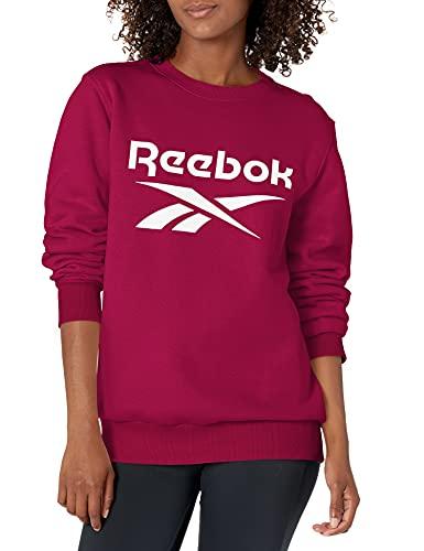 Reebok Women's Standard Crewneck Sweatshirt, Punch Berry, X-Small