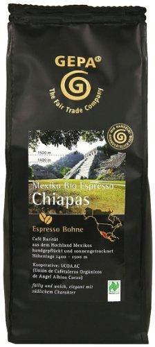 GEPA Mexiko Bio Cafe Chiapas Bohne, 1er Pack (1 x 250 g Packung)