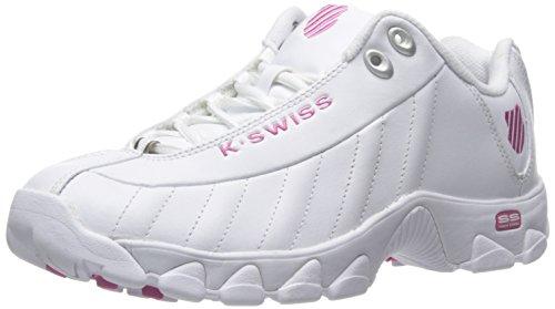 K-Swiss Damen ST329 CMF Turnschuh, Weiß/Shocking Pink, 41.5 EU