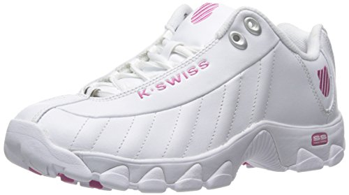 K-Swiss womens St329 Cmf Trainer Lifestyle Sneaker, White/Shocking Pink, 7.5 US