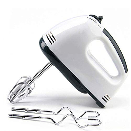 QYYL Batidora Varillas Electrica, con Gancho para amasar y Varillas para batir, 7 velocidades y función Turbo, Acero Inoxidable, Libre de BPA