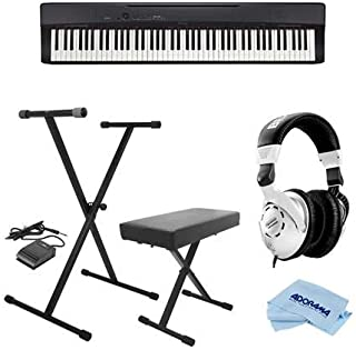 $499 » Casio PX-160 Privia 88-Key Portable Digital Piano, Black - Bundle With On-Stage KPK6520 Keyboard Stand/Bench Pack with Sustain Pedal, Behringer HPS3000 High-Performance Studio Headphones, Cloth