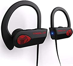 TREBLAB XR500 Bluetooth Headphones. 2018 Updated Version. IPX7 Waterproof, Sweatproof, Secure-Fit Headset. Noise Cancelling Earphones w/ Mic (Renewed)