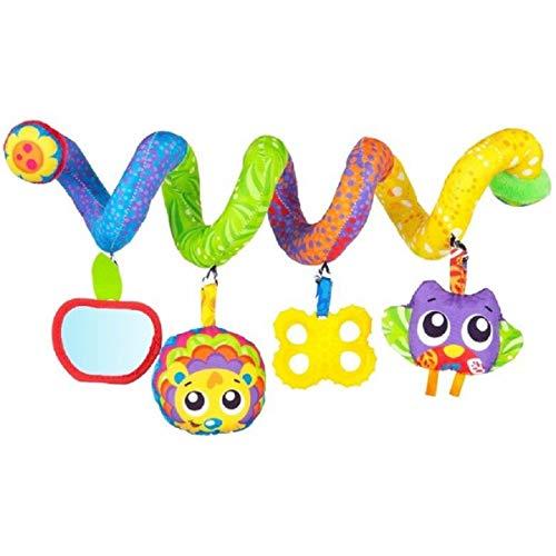 Tigex Aktivitätsspirale für Kinderwagen, Babybett und Autositz, mit 4 hängenden Spielzeugen für Babys, ab Geburt