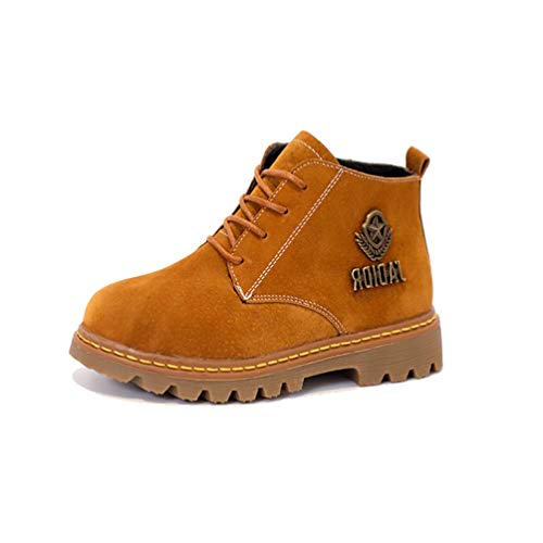 YUNICUS Boys Work Boots Waterproof Martin -Ankle Boots for Kids