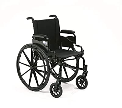 """Invacare 9000 XT High Performance Lighter Weight Wheelchair, With Desk Length Arms, 16"""" Seat Width, 9XT_29154, Black Satin"""