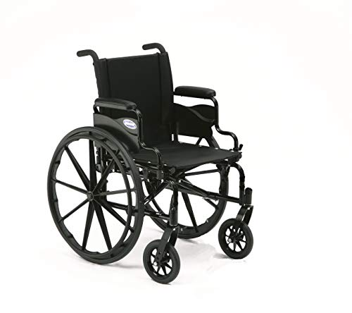 "Invacare 9000 XT High Performance Lighter Weight Wheelchair, With Desk Length Arms, 16"" Seat Width, 9XT_29154, Black Satin"