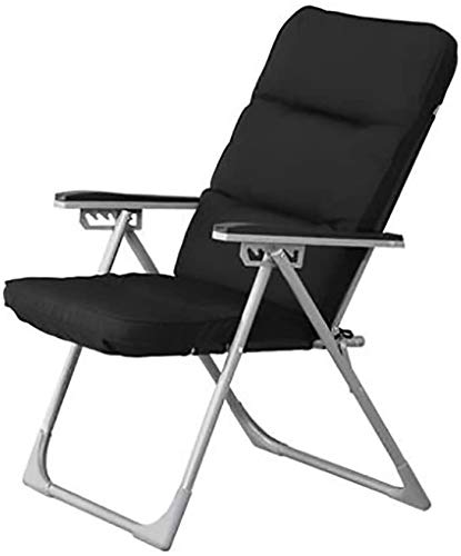 BATOWE Reclinable Plegable al Aire Libre Plegable Silla sillas de Oficina Sillón 56x62x102cm Tumbona Silla Siesta Individual Lazy Chair Negro Plegable Silla de salón