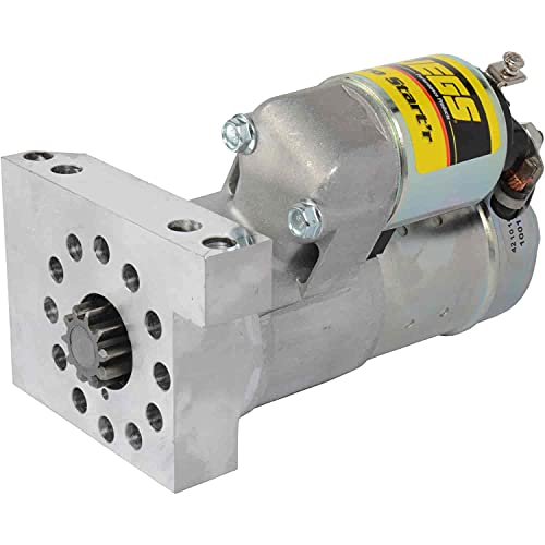 JEGS Heavy-Duty Mini Starter   Hitachi-Style   For Small Block and Big Block Chevy Engines   Made In USA