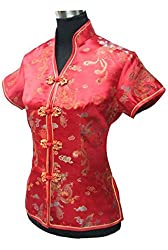 DragonEmbroidery Chinese Blouse Chinese Qipao Shirt Cheongsam Top