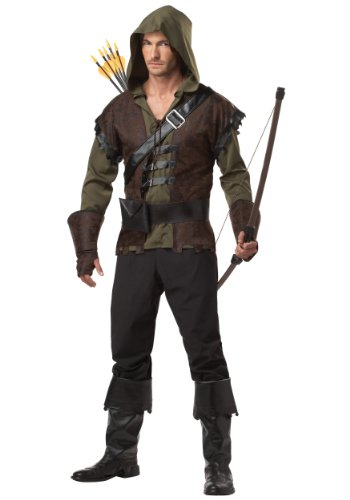 Mens Realistic Robin Hood Costume Medium Brown