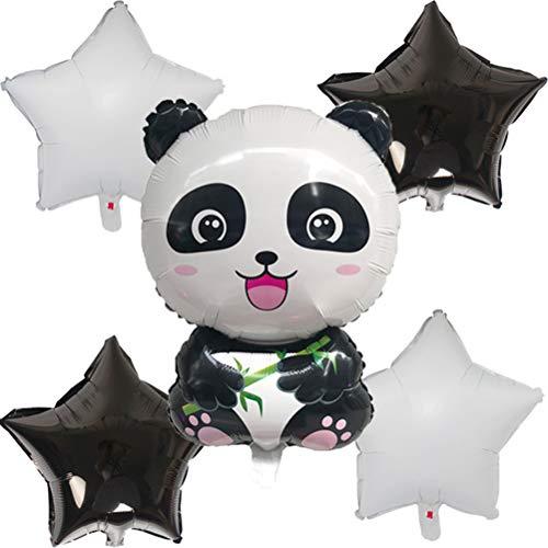 Toyvian 10 stücke Panda Star Aluminiumfolie Ballon Niedlichen Cartoon Luftballons Party Supplies für Kinder Birthay Party