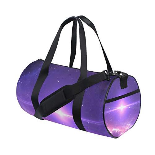 ZOMOY Bolsa de Deporte,Bright Star Supernova Center Nebula 3D,Nuevo Cilindro de impresión Bolsas de Ejercicios Bolsa de Viaje Equipaje Bolsa de Lona