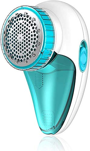 Aerb Fabric Shaver, Rechargeable Electric Lint Remover with USB Charging Cord & Extra Blade Included, 2-Speeds Portable Clothes Shaver with Three Blades for Efficient Bobbles Fuzz Removing (Blue)