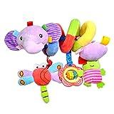 TOYMYTOY Giocattolo a spirale passeggino culla giocattoli di attività della peluche per neonato bambini (Elefante)