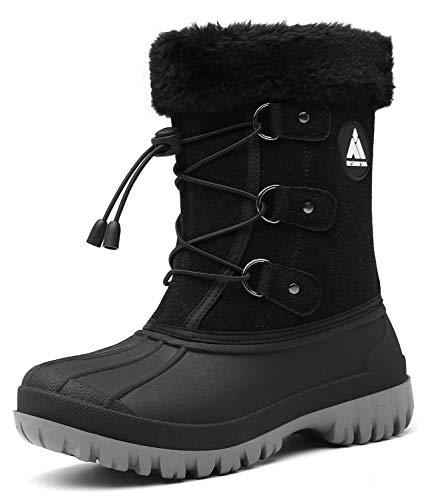 Niños Botas de Nieve Invierno para Niñas Impermeable Botas de Invierno Zapatos Calientes Niños Senderismo Niña de Outdoor Botas