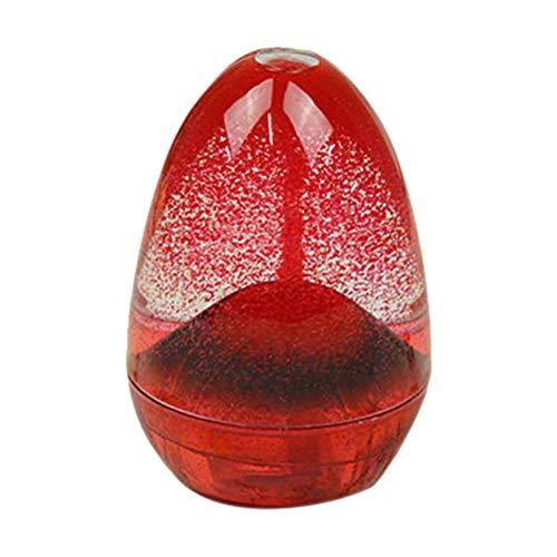sunronal eruzioni vulcaniche Clessidra Timer Olio Liquido Goccia Guscio d' Uovo Design Crafts Desk Ornamento