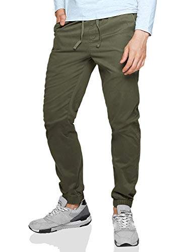 Match Men's Loose Fit Chino Washed Jogger Pant (30, 6535 R-Green)