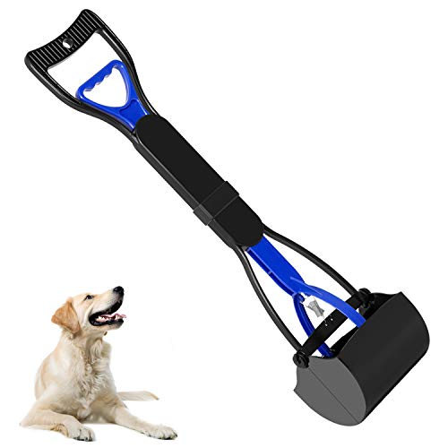 UPSKY Pet Pooper Scooper for Dogs and Cats with Long Handle, Durable Spring & Premium Materials,Easy to Use for Grass, Dirt, Gravel Pick Up
