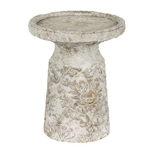 TABLE PASSION - Photophore avec Plateau Romance Motif Floral h15