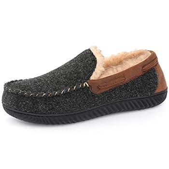 RockDove Men s Hearthfire Memory Foam Moc Slipper Size 10 US Men Black