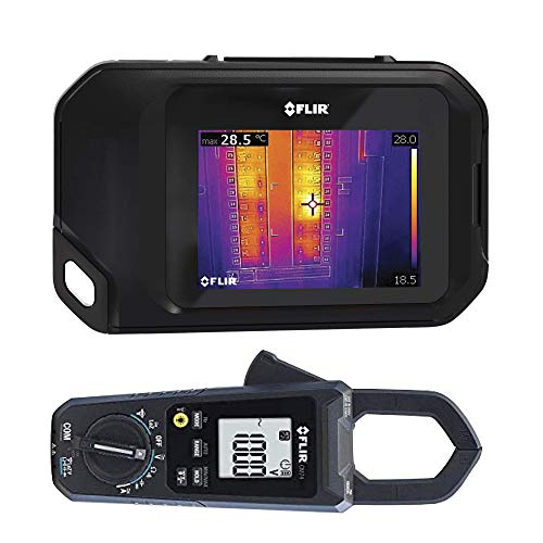 FLIR C3 Pocket Thermal Camera with WiFi with FLIR CM74 Commercial 600A AC/DC Clamp Meter